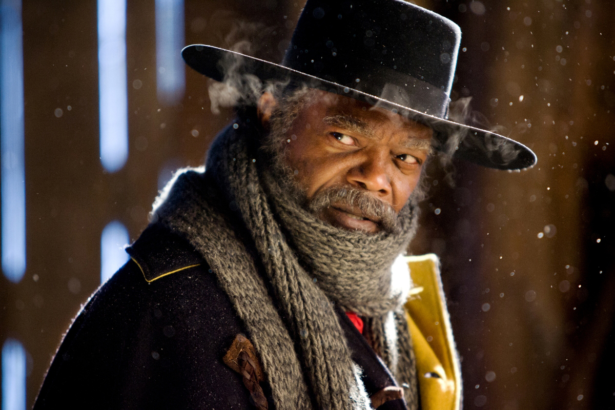 <p>Samuel L. Jackson in 'The Hateful Eight.'</p>