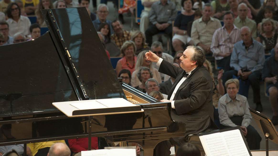 <p>Grammy Award-winning pianistYefim Bronfman performs at the 2013 Aspen Music Festival</p>