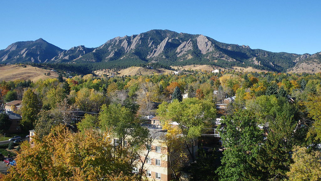 Boulder and the Flatirons.