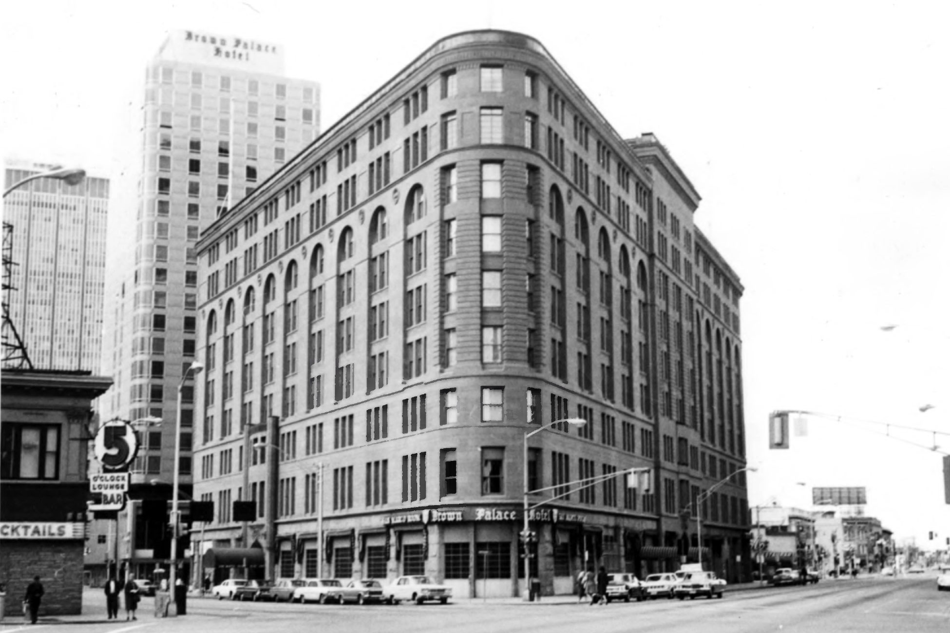 <p>The Brown Palace hotel, originally built in 1892, sits on 17thand Tremont street in Denver, Colo. in 1967.</p>