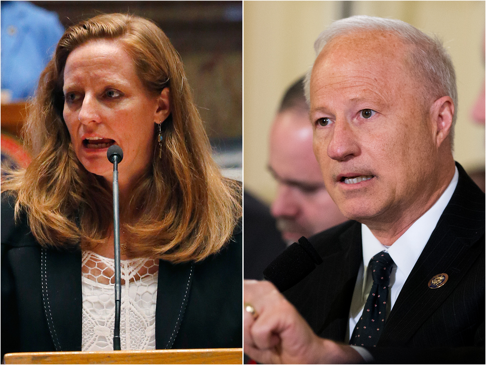 <p>State Sen. Morgan Carroll, D-Aurora, left, is challenging RepublicanU.S. Rep. Mike Coffmann in Colorado's 6th Congressional District.</p>