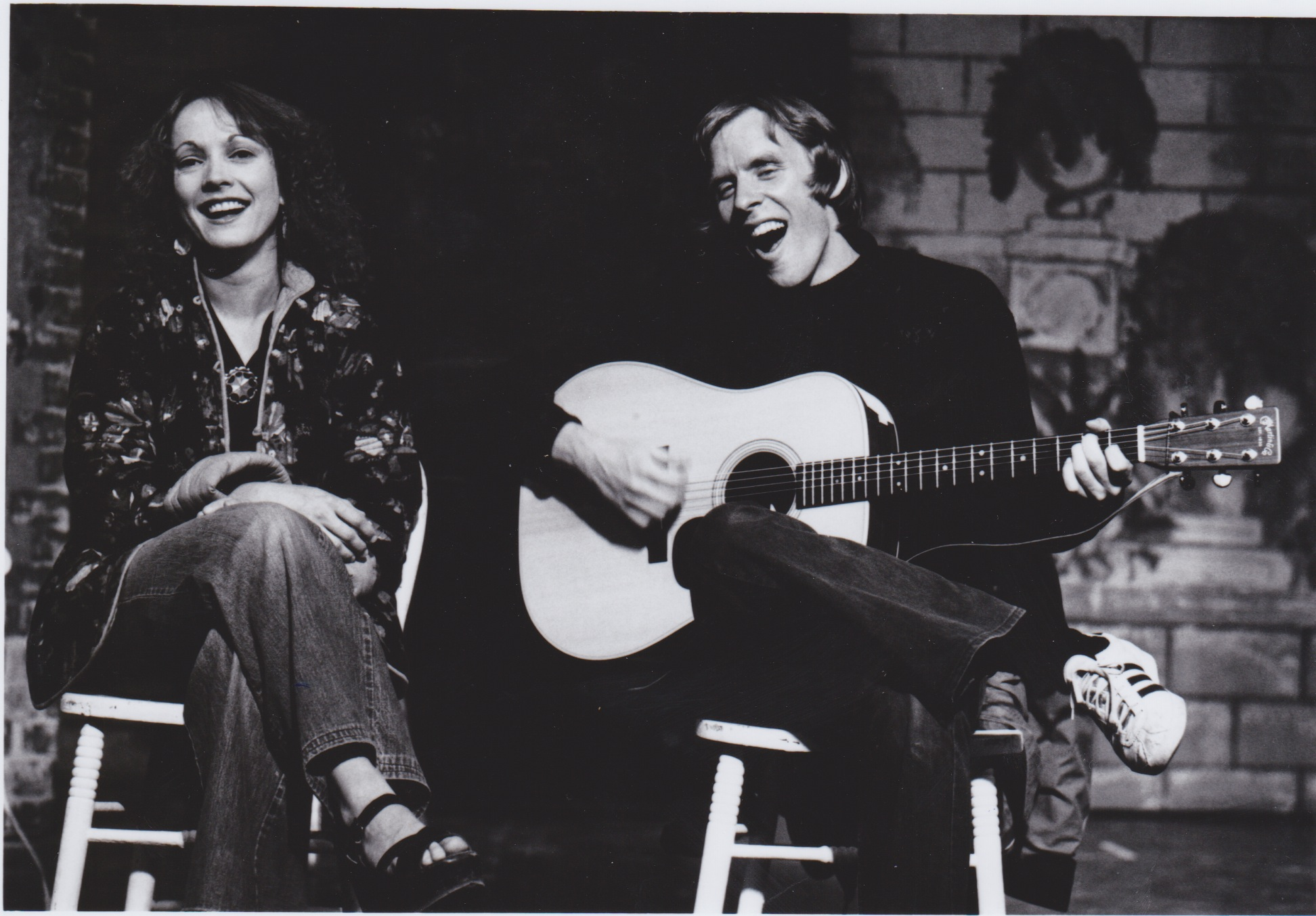 """<div>Christy Brandt and John Green perform in a concert<span style=""""line-height: 1.66667em;"""">on the main stage of the Creede Repertory Theatre in 1974.</span></div>"""
