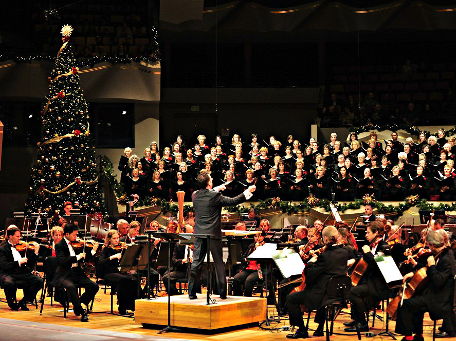 <p>A scene from the Colorado Symphony's Christmas Concert.  </p>