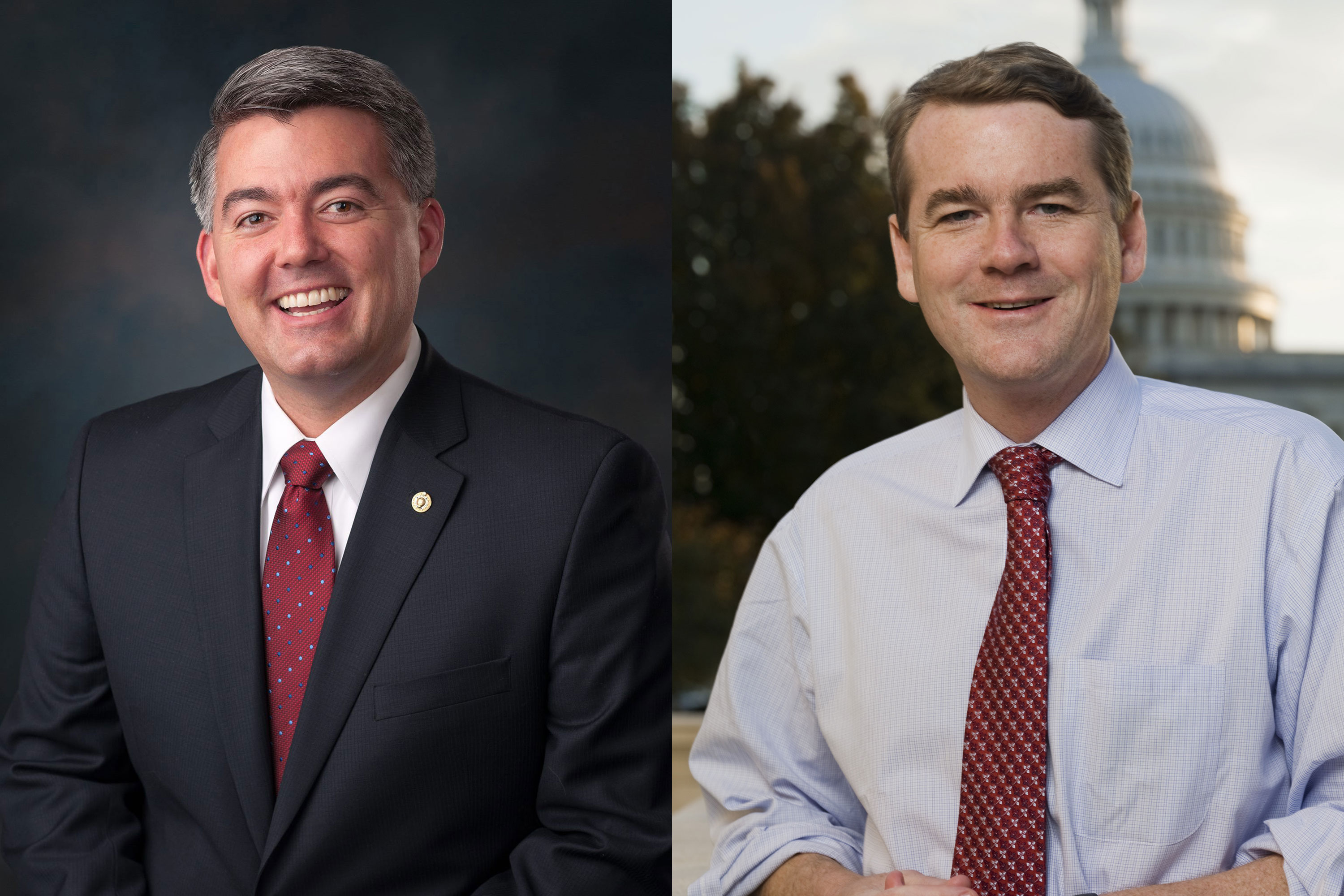 <p>Colorado's Senators, Republican Cory Gardner and Democrat Michael Bennet.</p>