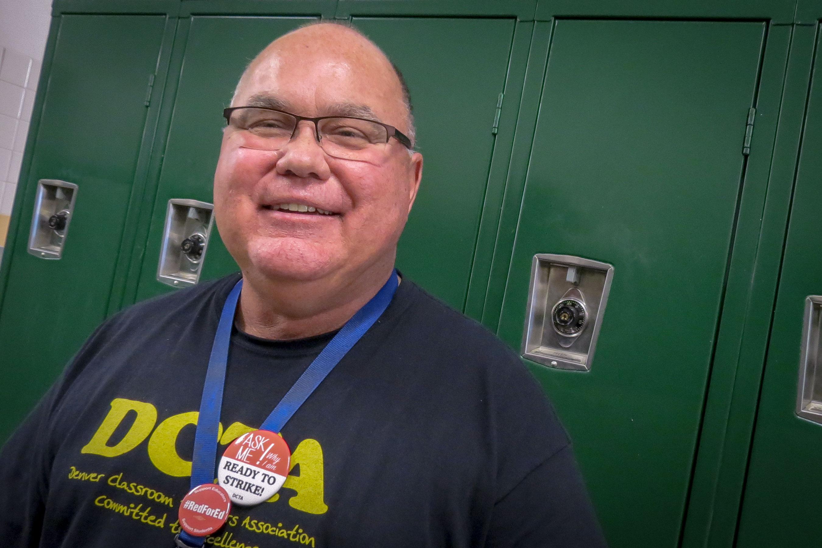 <p>Skinner Middle School social worker Joe Waldon.</p>