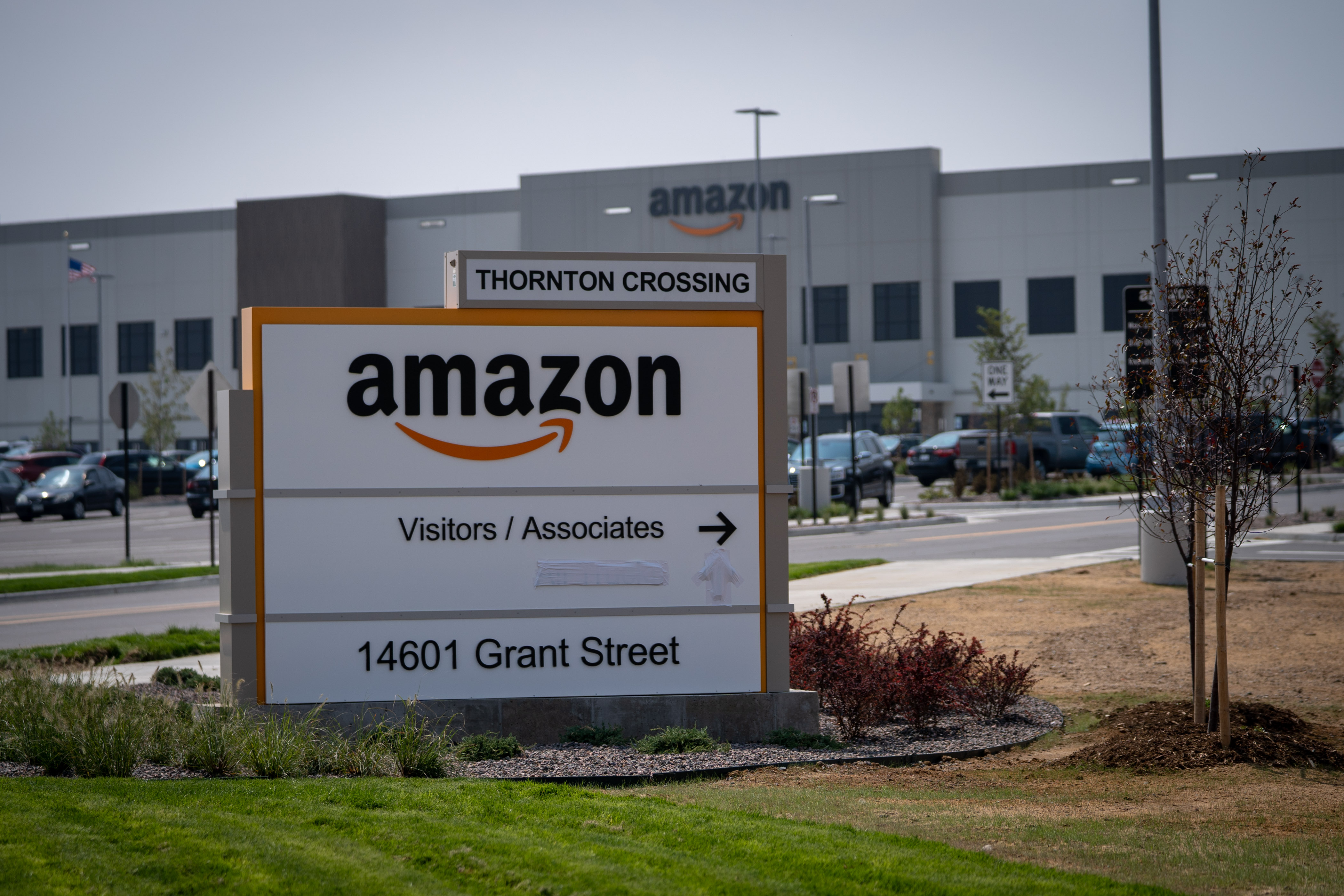 <p>The Amazon fulfillment center in Thornton, Colo.</p>