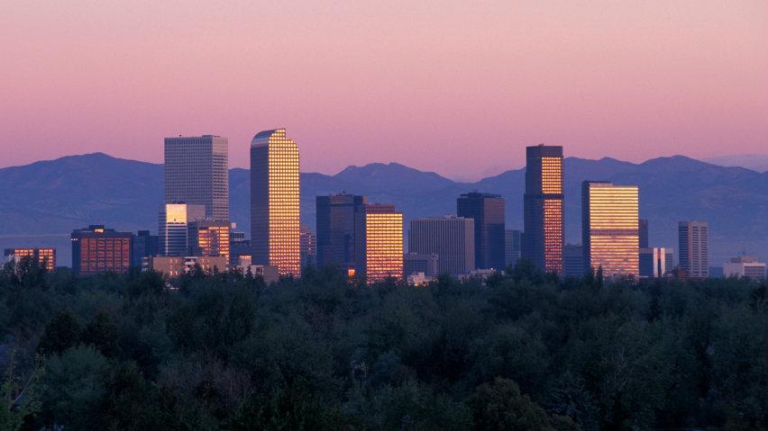 <p>Downtown Denver, looking west.</p>