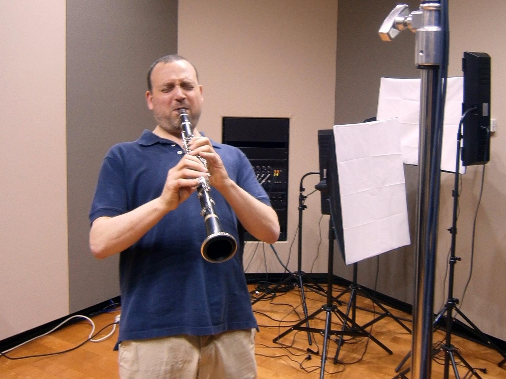 <p>Derek Bermel in the CPR Performance Studio.</p>
