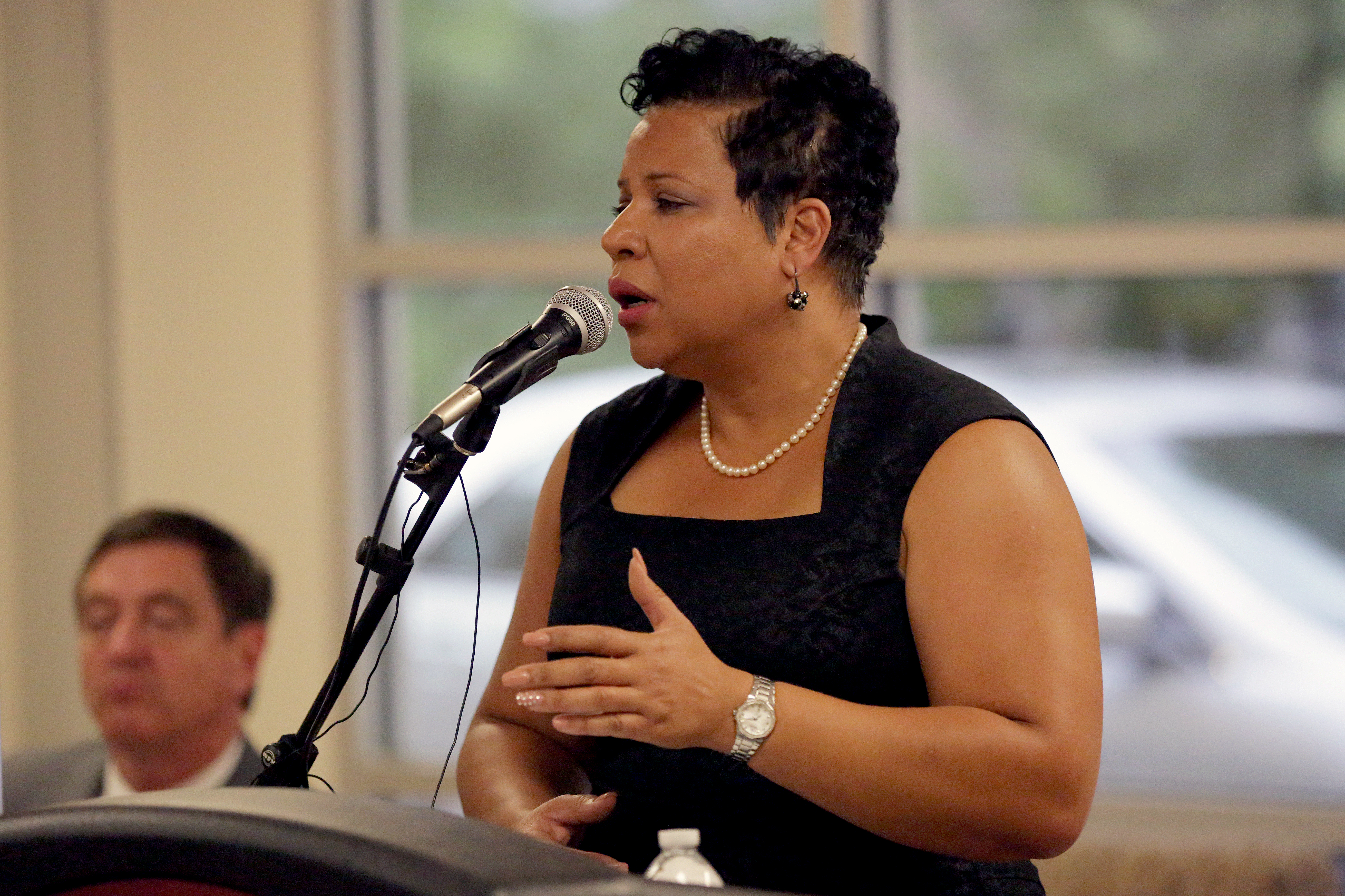 Stephanie O'Malley, director of safety for the City of Denver, speaks at a forum about reforms to the Denver Sheriff Department on Tuesday, June 30, 2015 in Park Hill.