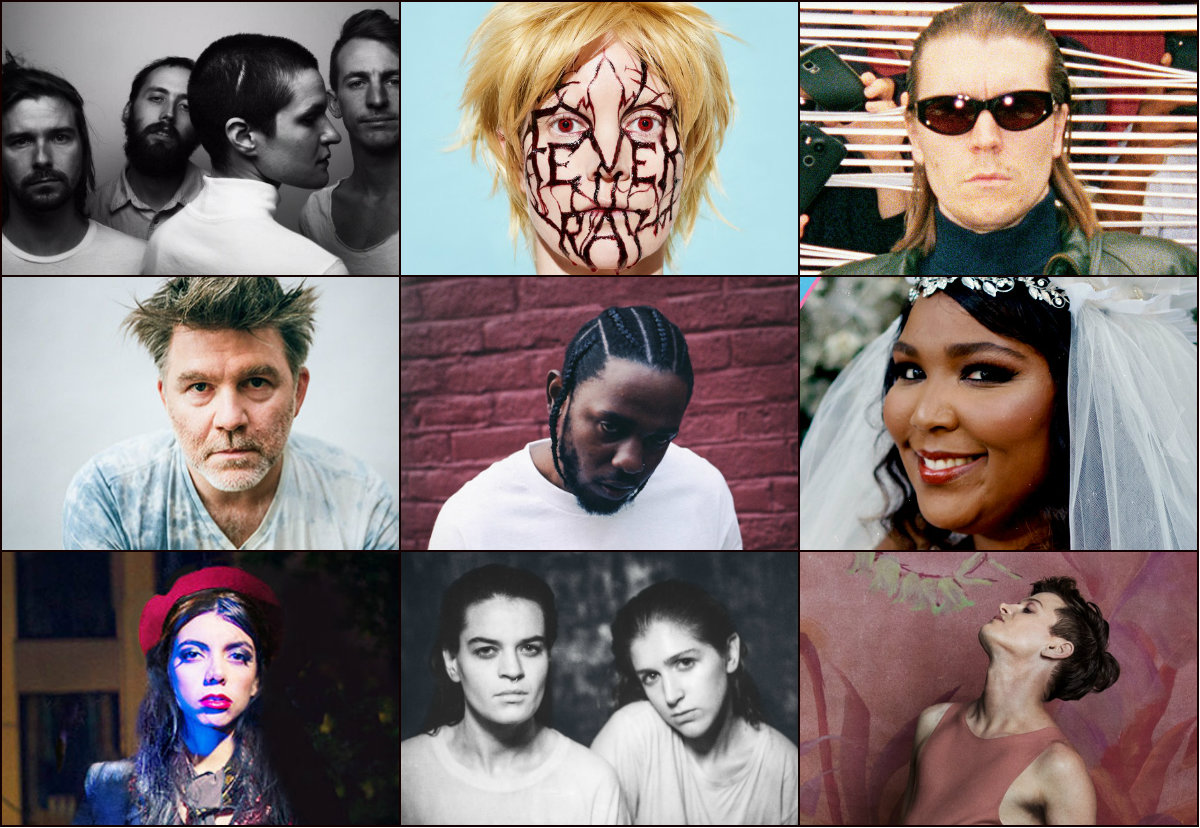 <p>Some of the artists selected by the CPR's OpenAir staff for their favorite music of the year. Top row, left to right: Big Thief, Fever Ray, Alex Cameron. Middle row, left to right: LCD Soundsystem, Kendrick Lamar, Lizzo. Bottom row, left to right: Hurray For The Riff Raff, Overcoats, Perfume Genius.</p>
