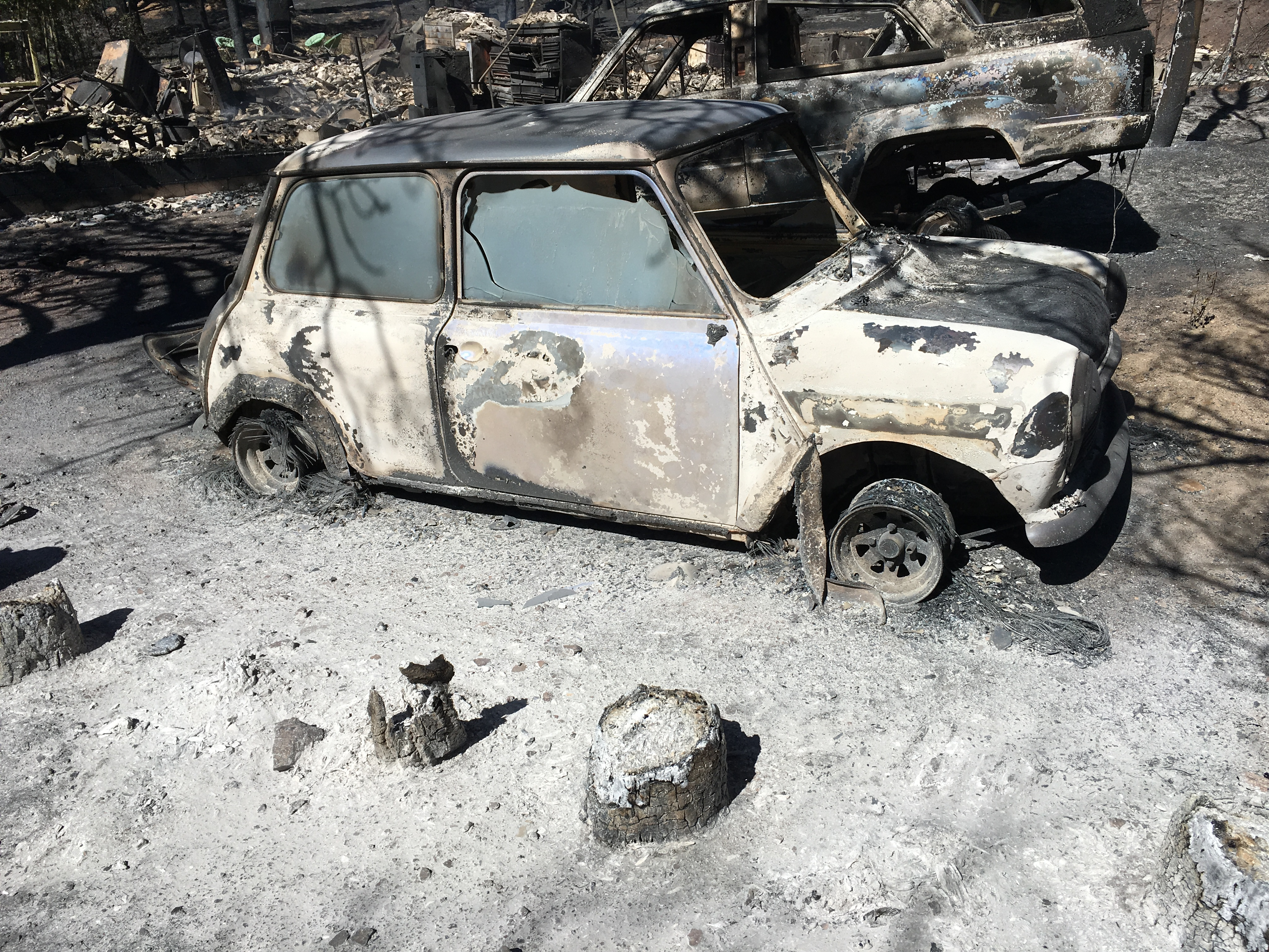 <p>The Cold Springs fire destroyed the Schmidtmanns' car and home.</p>