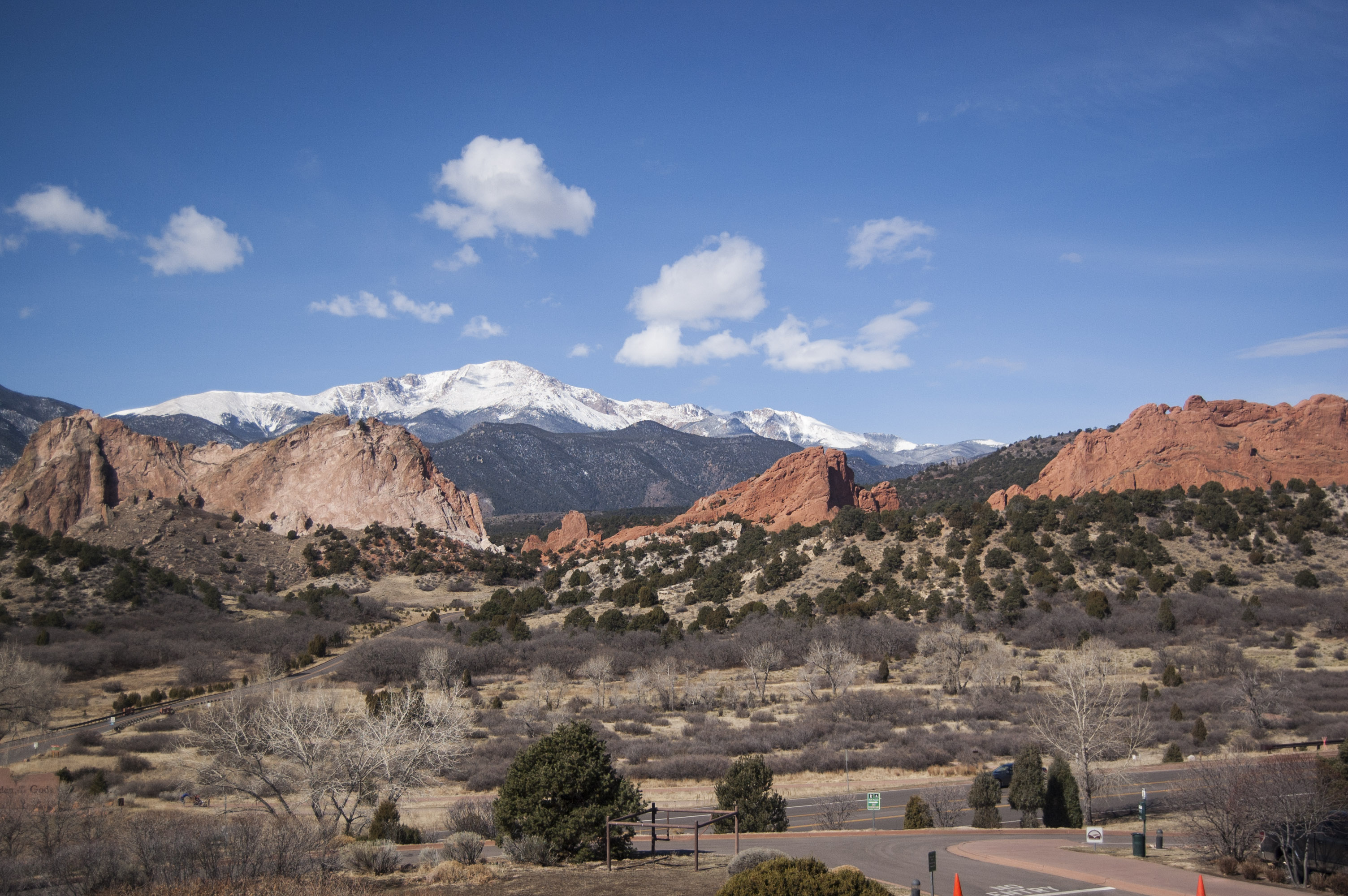 <p>The iconic view of Garden of the Gods and Pike's Peak from the second floor deck of the Visitor and Nature Center. Hank Scarangella, president ofFriends of the Garden of the Gods,worries that view would be spoiled by the addition of another parking lot.</p>