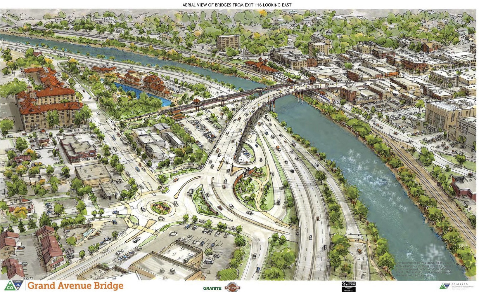 <p>An artist's rendering of the completed Grand Avenue Bridge replacement project.</p>