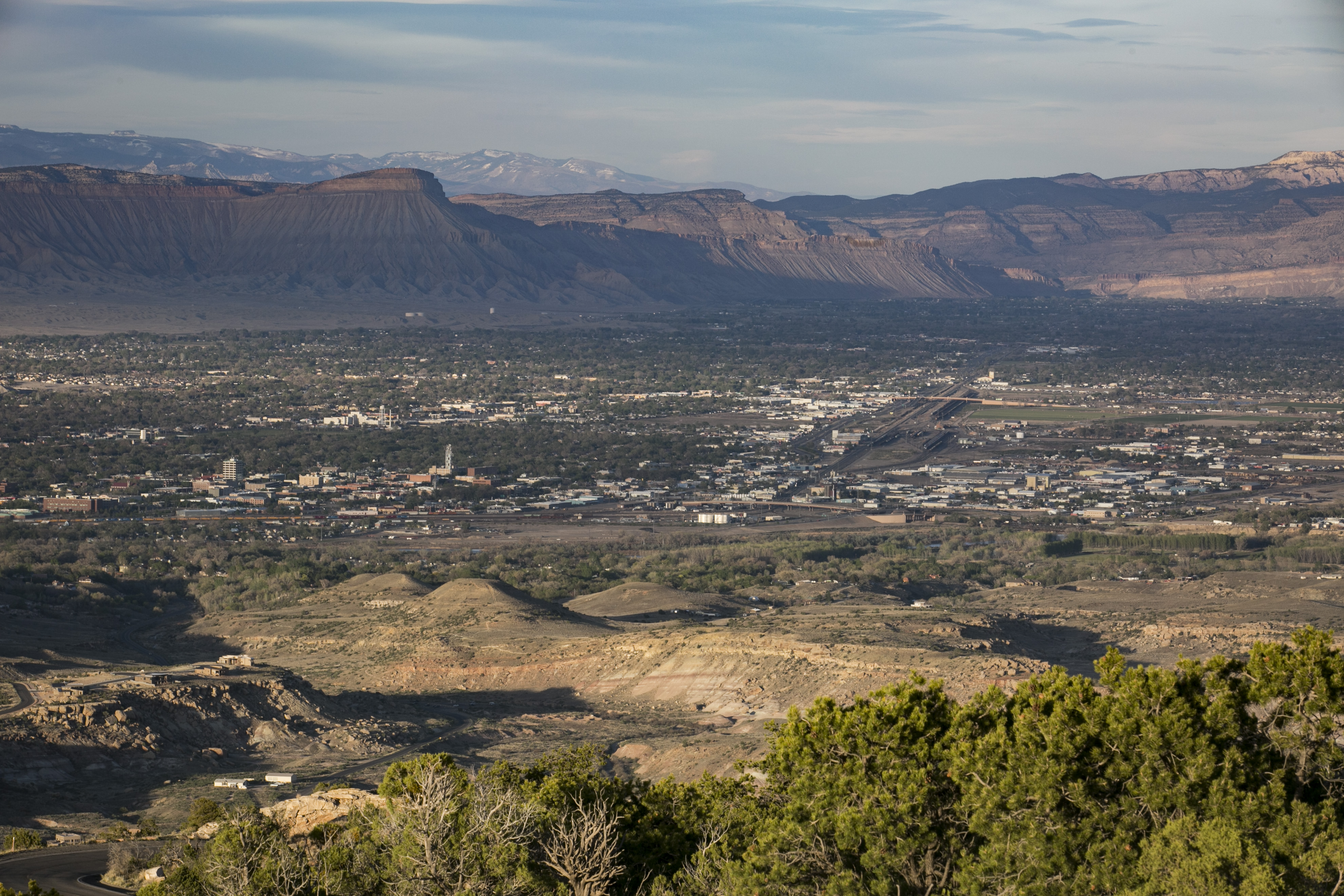 <p>Grand Junction, Colorado, seen from the Colorado National Monument. The city is widely considered a contender for the new home of the Bureau of Land Management.</p>