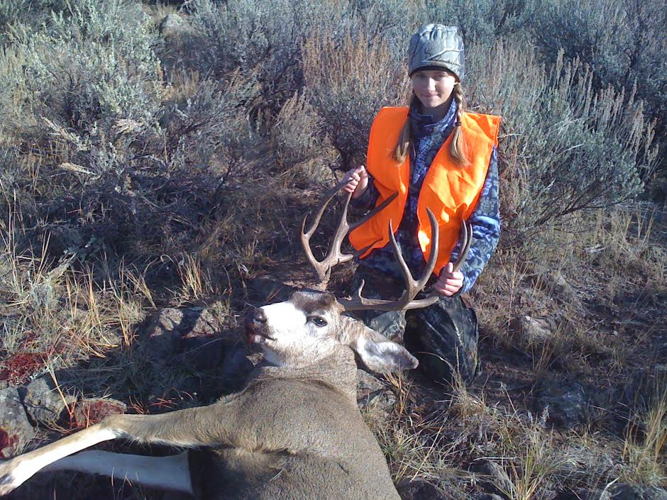 <p>Sofia Gamba with the deer she bagged in 2011.</p>