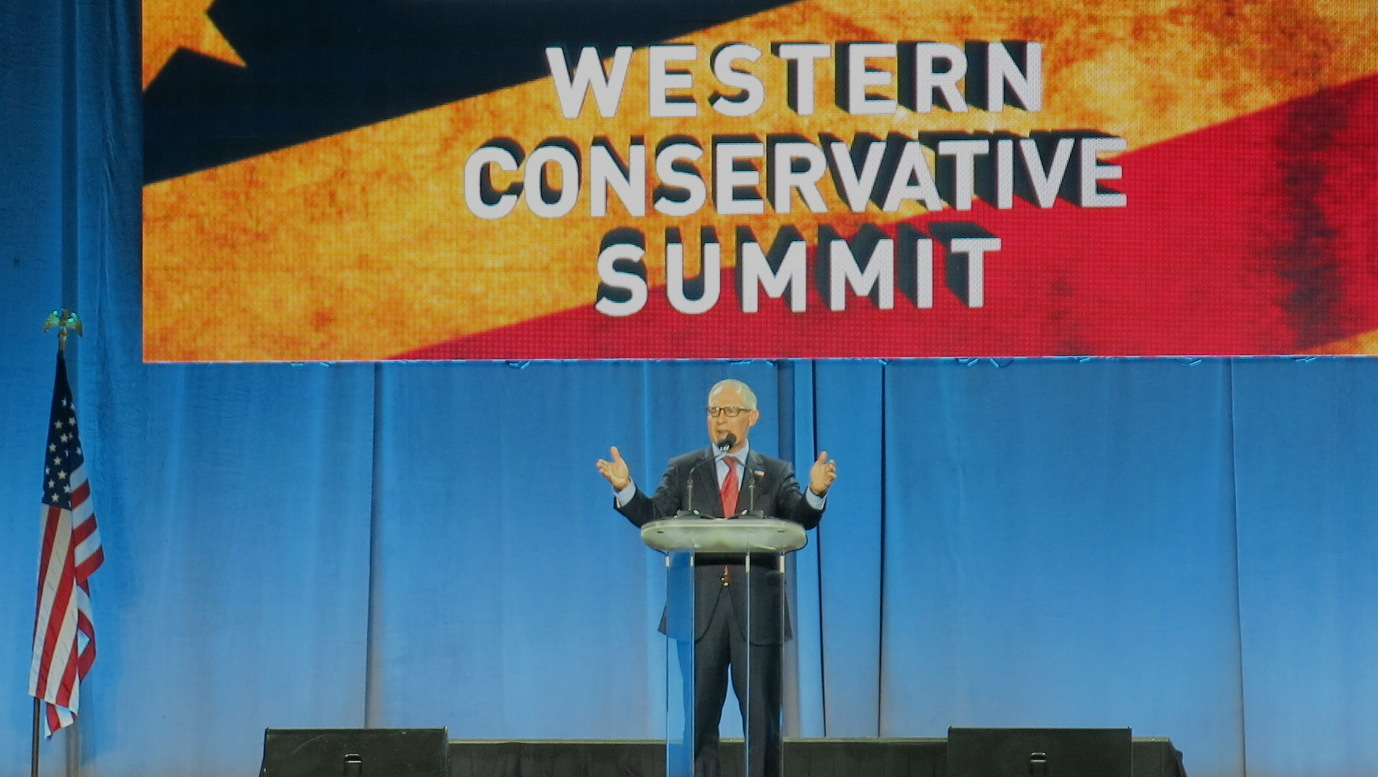 <p>EPA Administrator Scott Pruitt at the Western Conservative Summit.</p>