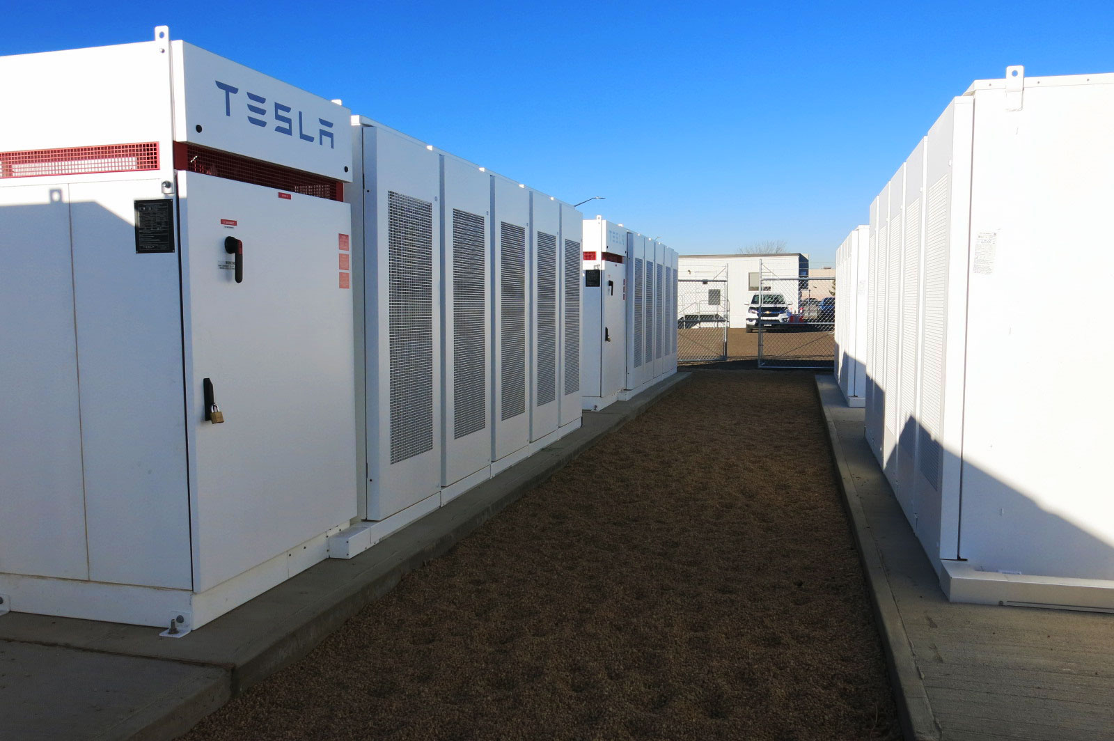 <p>The Tesla-made lithium ion battery unveiled by United Power Cooperative Tuesday, Dec. 18, 2018. The battery storage system is the largest in Colorado.</p>