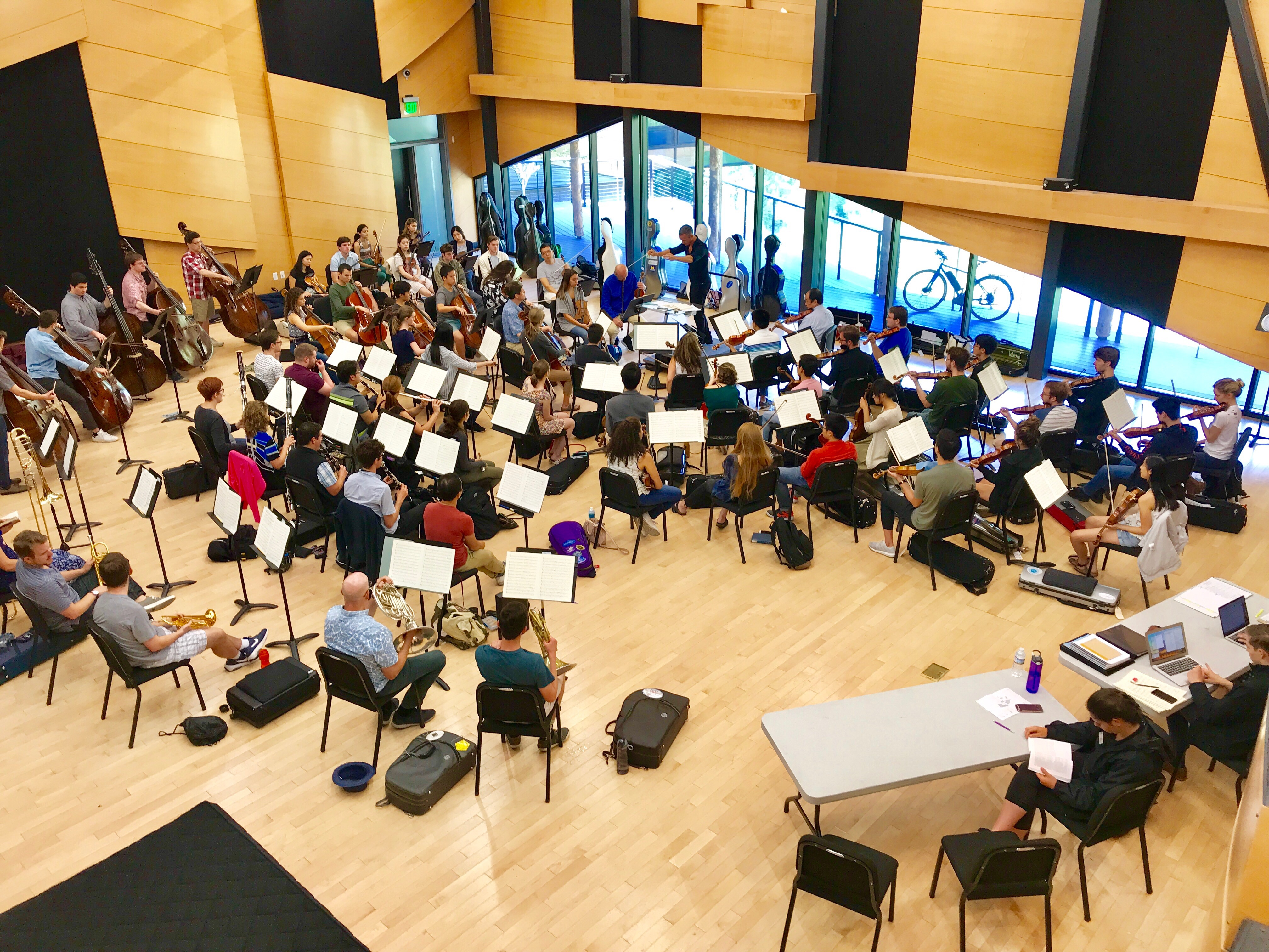 <p>The Aspen Chamber Symphony rehearsing at the Aspen Music Festival and School, conducted by Alexander Shelley.</p>
