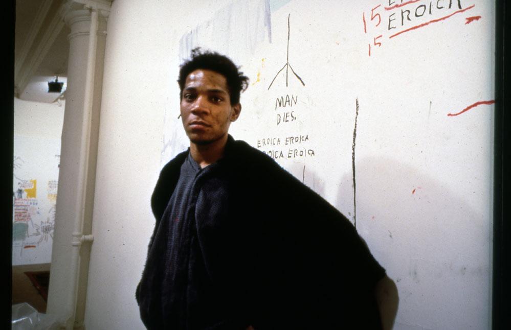 <p>A portrait of contemporary artist Jean-Michel Basquiat taken by Denver photographer Mark Sinkinside New York City'sVrej Baghoomian Gallery in 1988.</p>