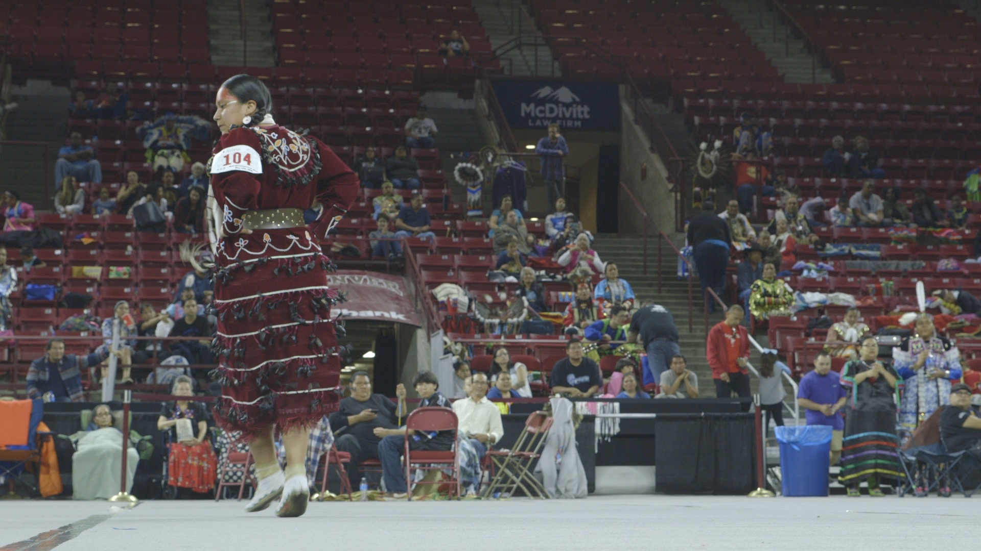 <p>Ontario Arrow White dances in the Teen Women's Jingle competition.</p>
