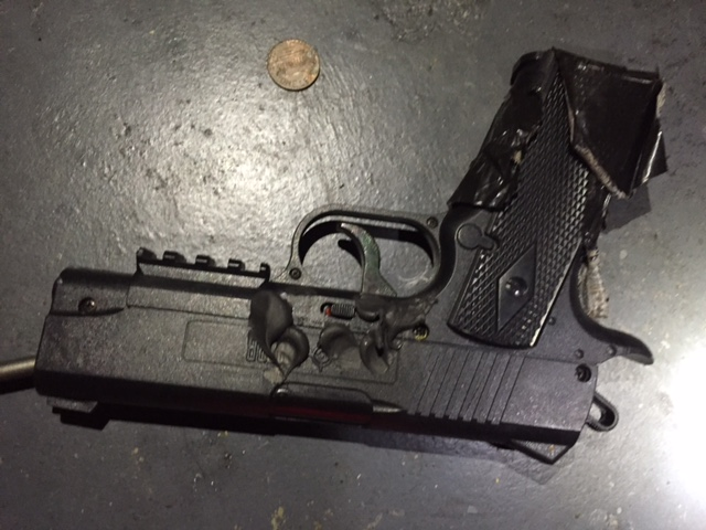 "<p>Nashville police recovered this pellet gun after killing 29-year-old theater attack suspect Vincente David Montano. Police said Montano had mental health issues and ""was committed to an institution at least three times.""</p>"