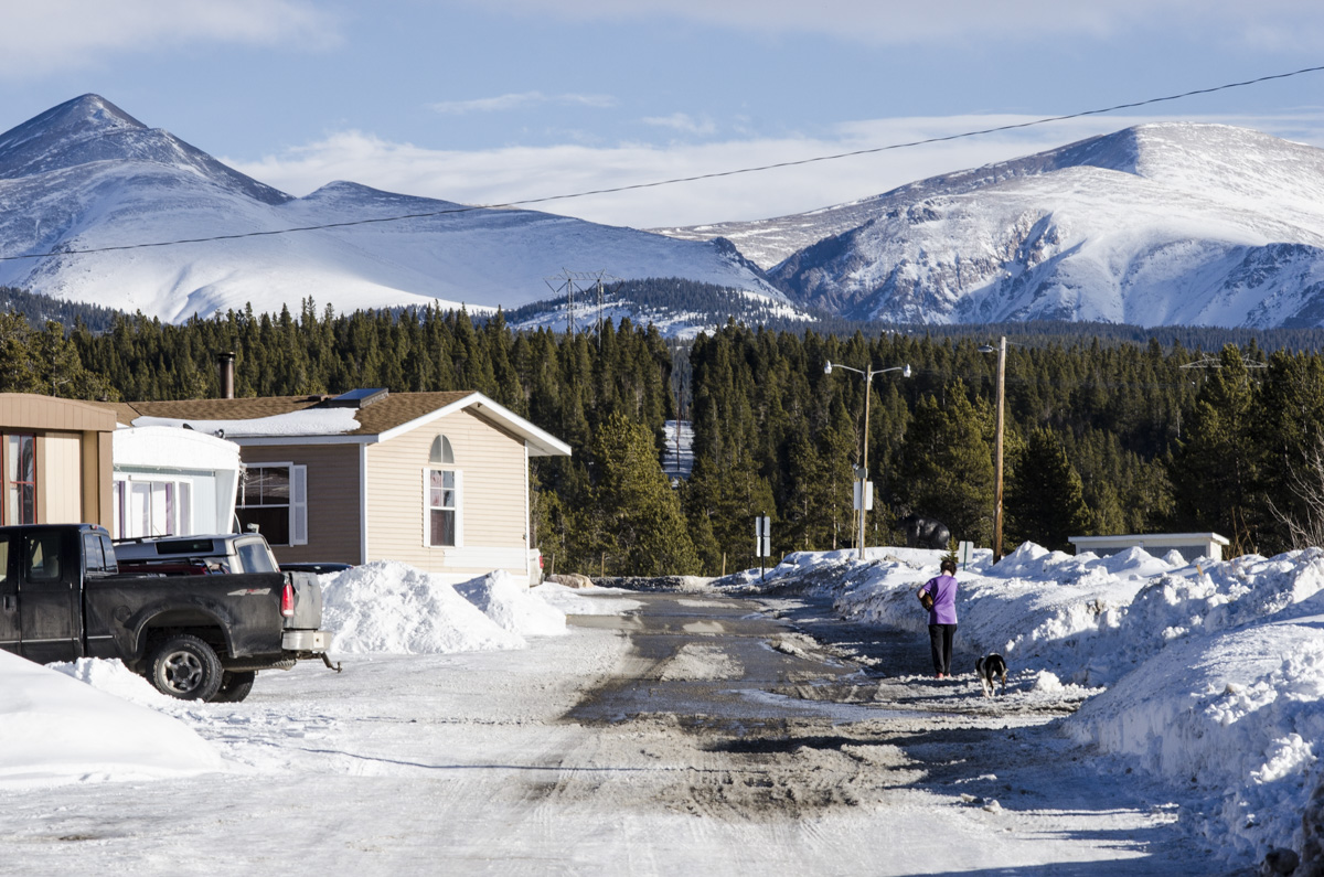<p>Many Hispanic families who commute to Summit and Eagle counties live in this trailer park just north of Leadville -- some 40-50 miles away from work.</p>