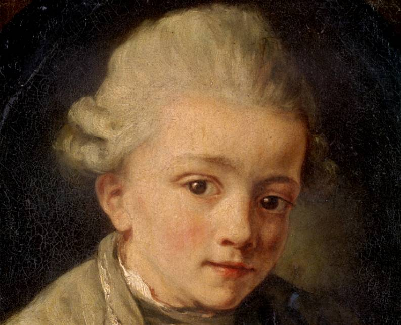 <p>The young Wolfgang Amadeus Mozart.</p>