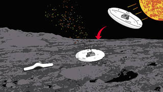 <p>An illustration of aproposedsoft robotic spacecraft that could land on asteroids without bouncing, despite the low gravity environment. The proposal by Jay McMahon at the University of Coloradowon a grant from theNASA Innovative Advanced Concepts program, which is designed to supportfar-out ideas that could be made possible.</p>