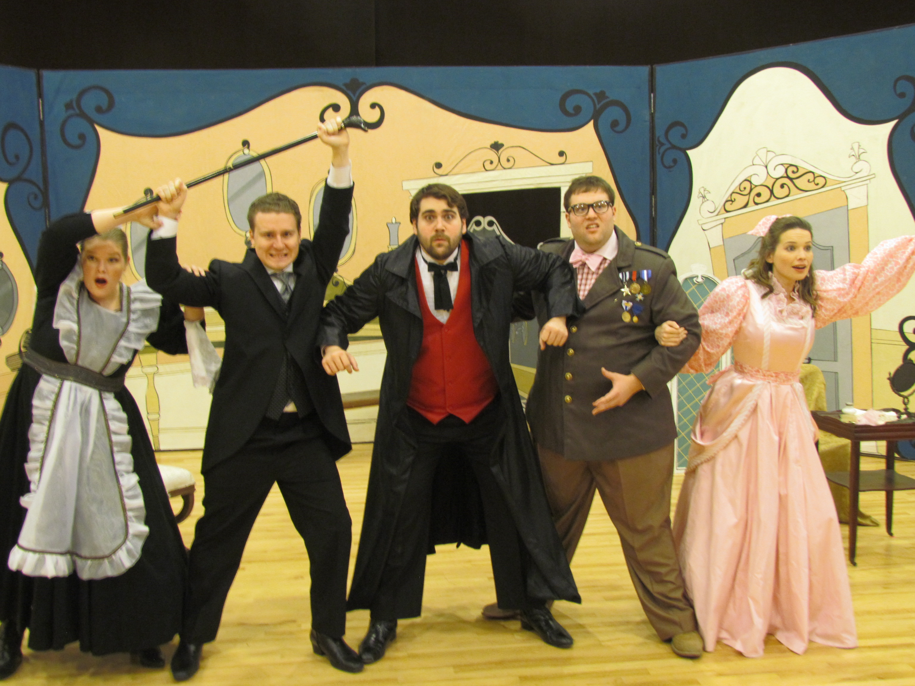 <p>Opera Colorado's Young Artists (from left to right): Colleen Jackson, Ben Sieverding, Jared Guest, Brett Sprague and Louise Rogan.</p>