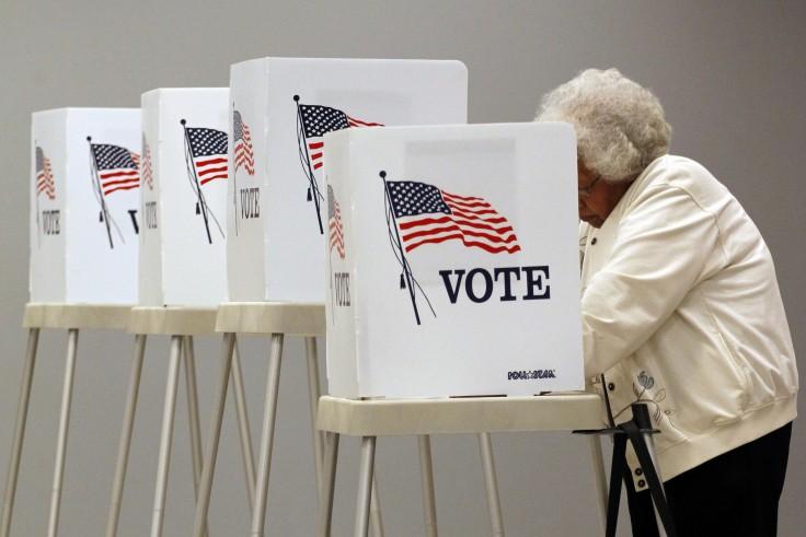 <p>Voting in Thornton, Colo., in 2014</p>