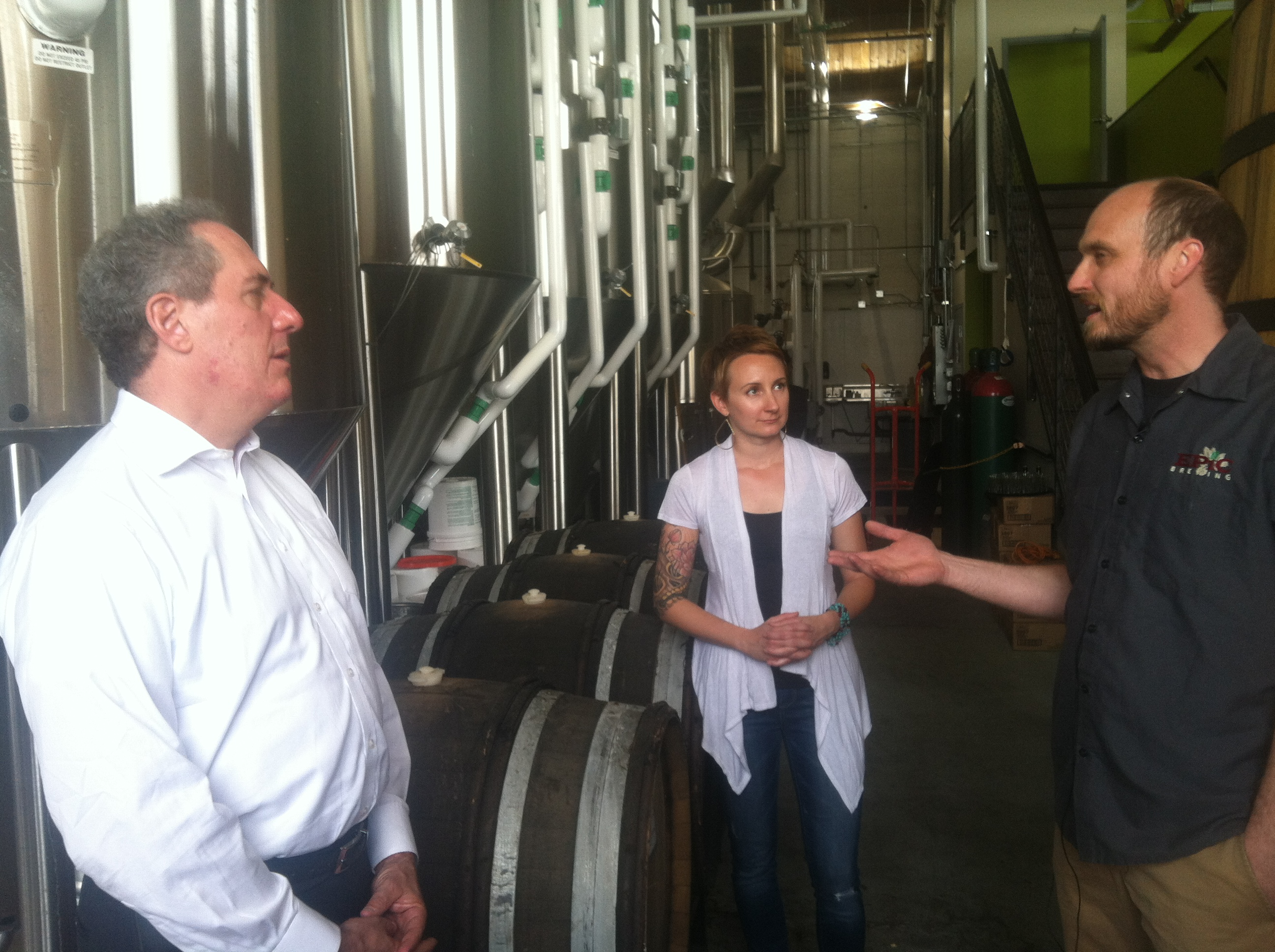 <p>US Trade Representative Michael Froman tours Denver's Epic Brewing Company. The business exports beer to Japan, Brazil, Sweden and Singapore.</p>