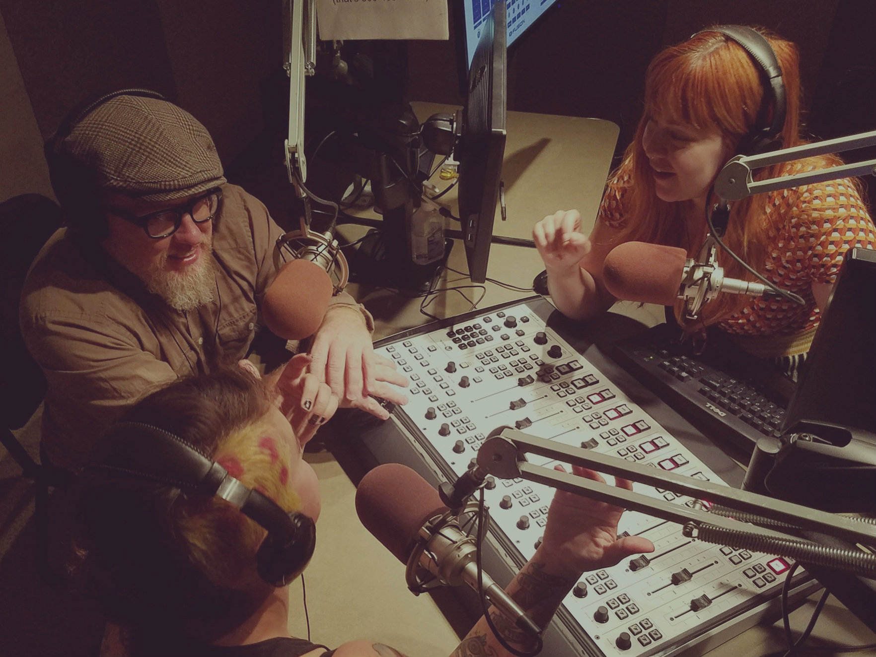 """<p>Jeremy Petersen, Bruce Trujillo and JessiWhittenare the hosts of the first episode of """"The Playlist League""""</p>"""