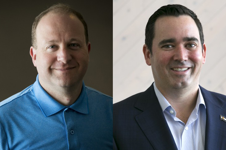 """<p><span style=""""color: rgb(64, 69, 64);"""">Jared Polis (left) and Walker Stapleton (right) are the Democratic and Republican candidates for Colorado governor.</span></p>"""