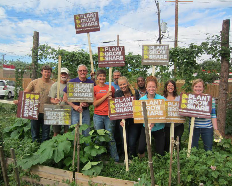 <p>These signs are placed near gardens that are registered with Produce for Pantries and donate produce to food banks and hunger relief organizations.</p>
