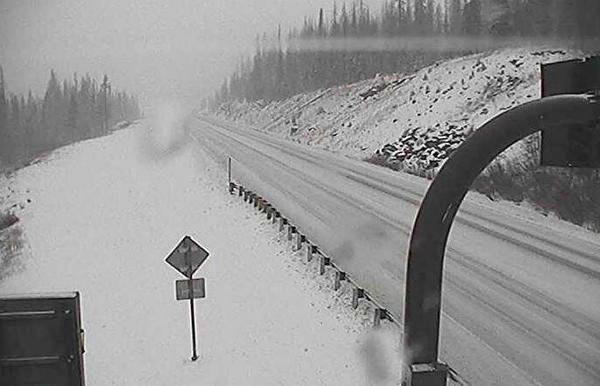 "<p>The National Weather Service in Pueblo <a href=""https://twitter.com/NWSPueblo/status/529066922969530368/photo/1"" target=""_blank"" rel=""noopener noreferrer"">tweeted</a> this photo ofHighway 160 over Wolf Creek Pass.</p>"