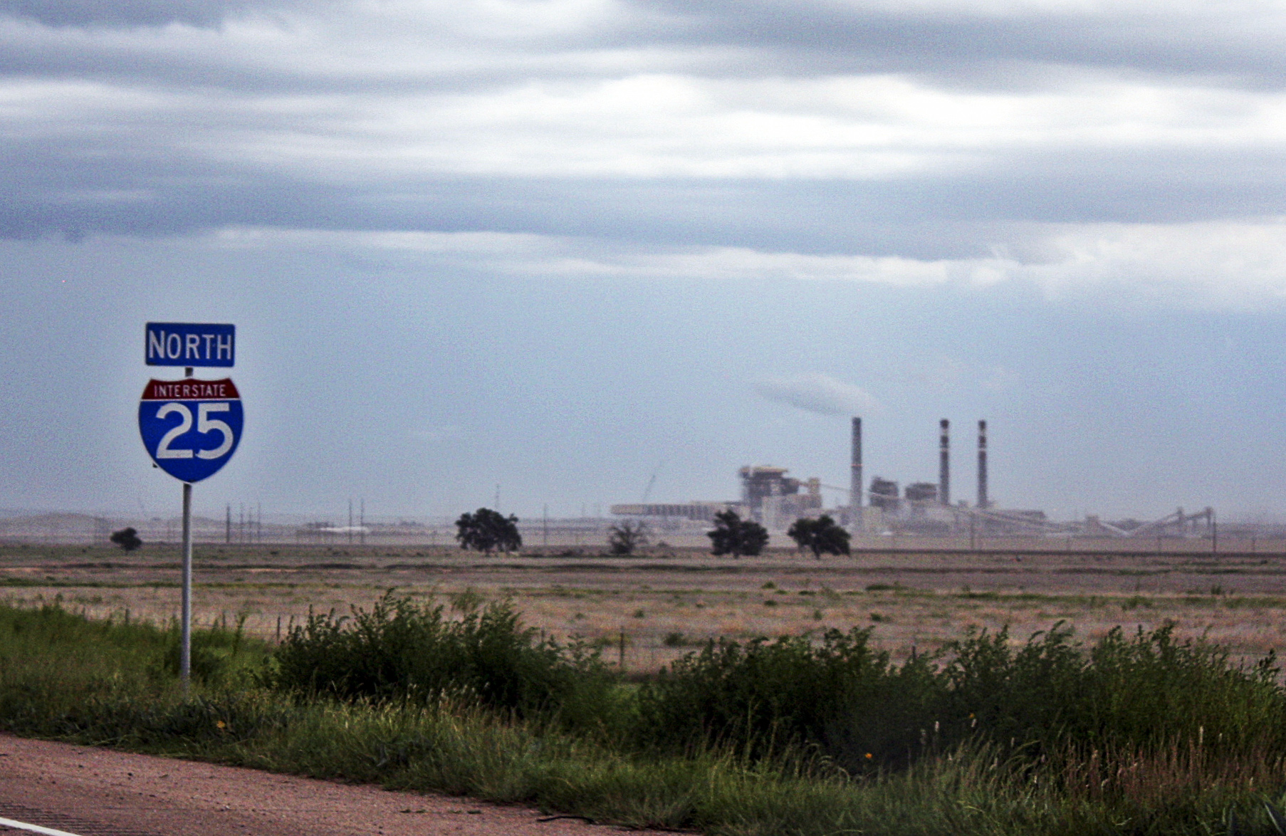 <p>Pueblo is seen from Interstate 25 in southern Colorado.</p>