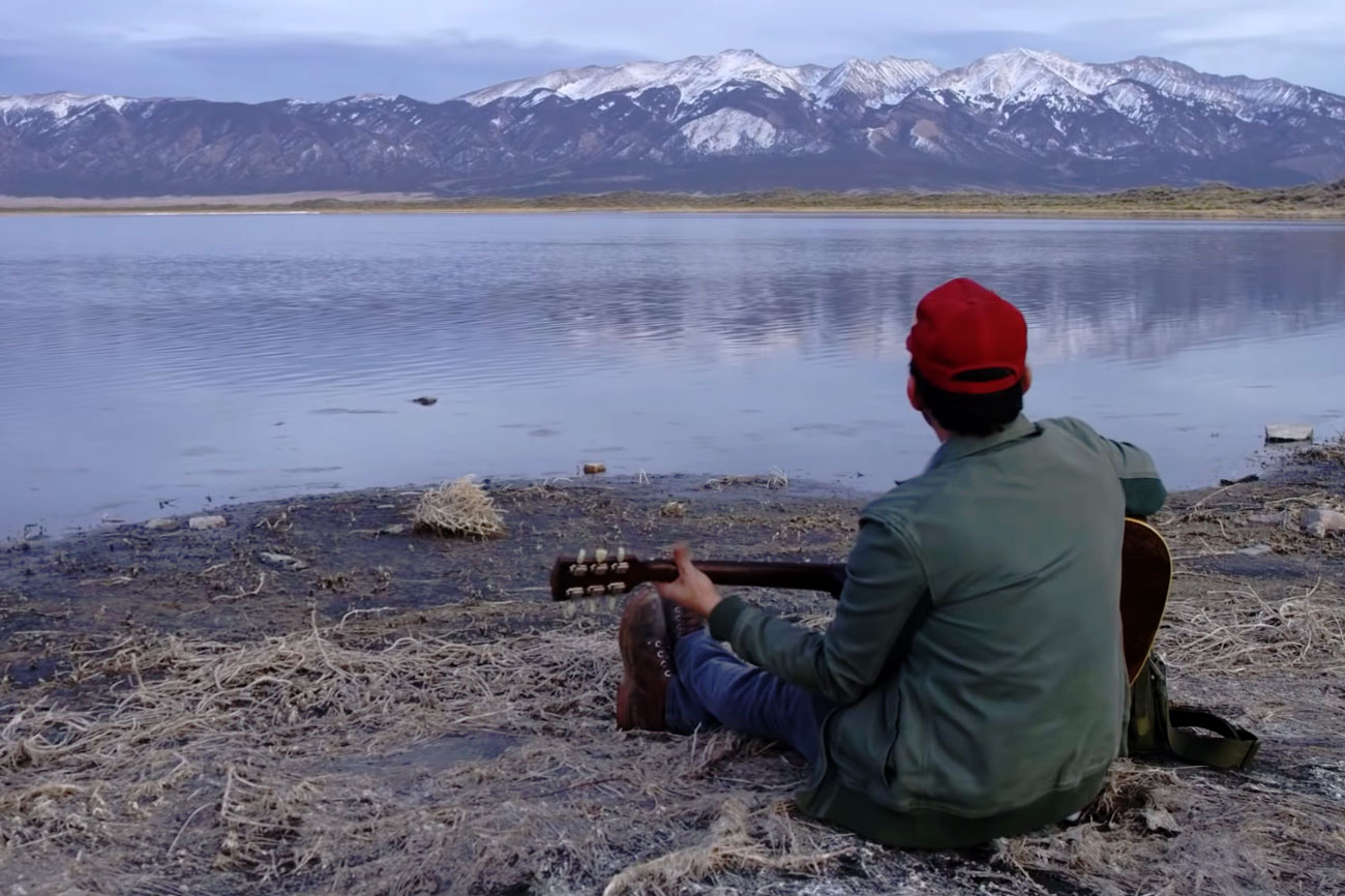 """A screengrab from Gregory Alan Isakov's latest video, """"San Luis."""""""