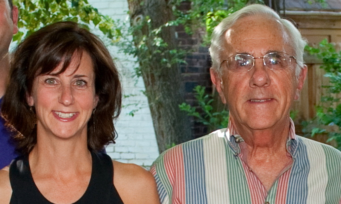 <p>Julie Selsberg with her father, Charles Selsberg.</p>