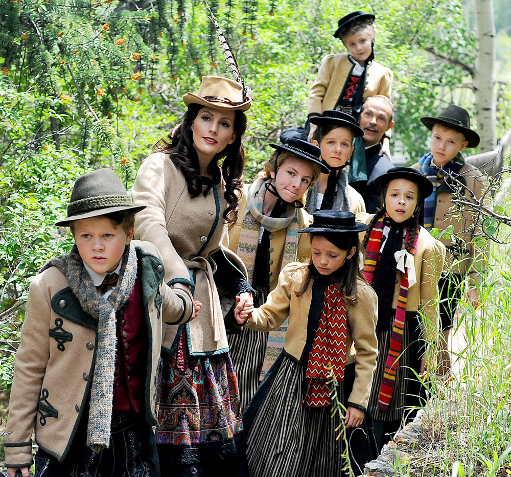 """<div><span style=""""line-height: 1.66667em;"""">Central City Opera's """"The Sound of Music"""" cast. Pictured Front to Back: Katherine Manley (Maria Rainer), Julie Tabash (Liesl), Troy Cook (Captain Georg von Trapp) and members of the Colorado Children's Chorale as the von Trapp children.</span></div>"""