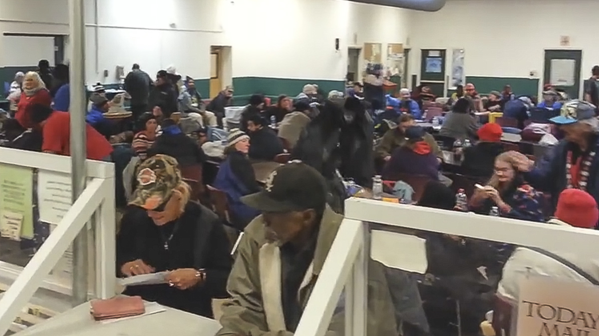 <p>A still from a video shot on Nov. 12inside the St. Francis Center.</p>