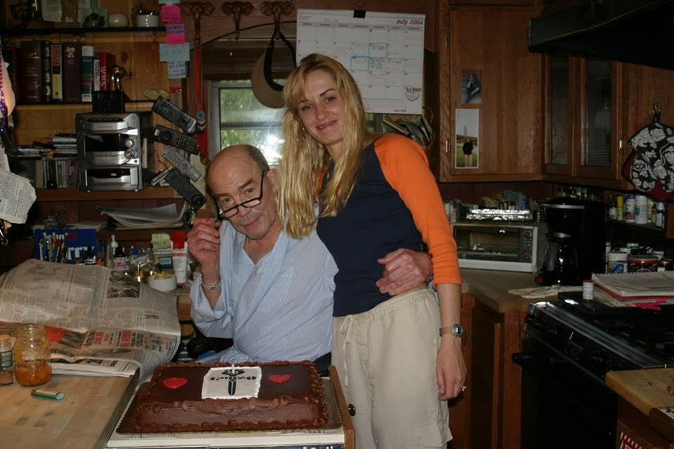 "<p>Anita Thompson says: ""Hunter and me on his birthday. I woke him up early for birthday cake.""</p>"