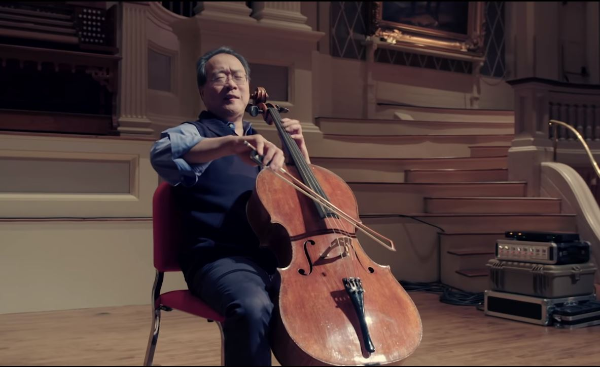 <p>Yo-Yo Ma performing Bach: Cello Suite No. 3 in C Major, Bourrée I and II.</p>