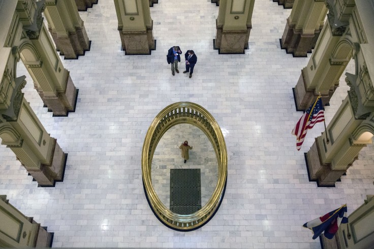<p>Inside the Colorado state Capitol Feb. 5, 2019.</p>