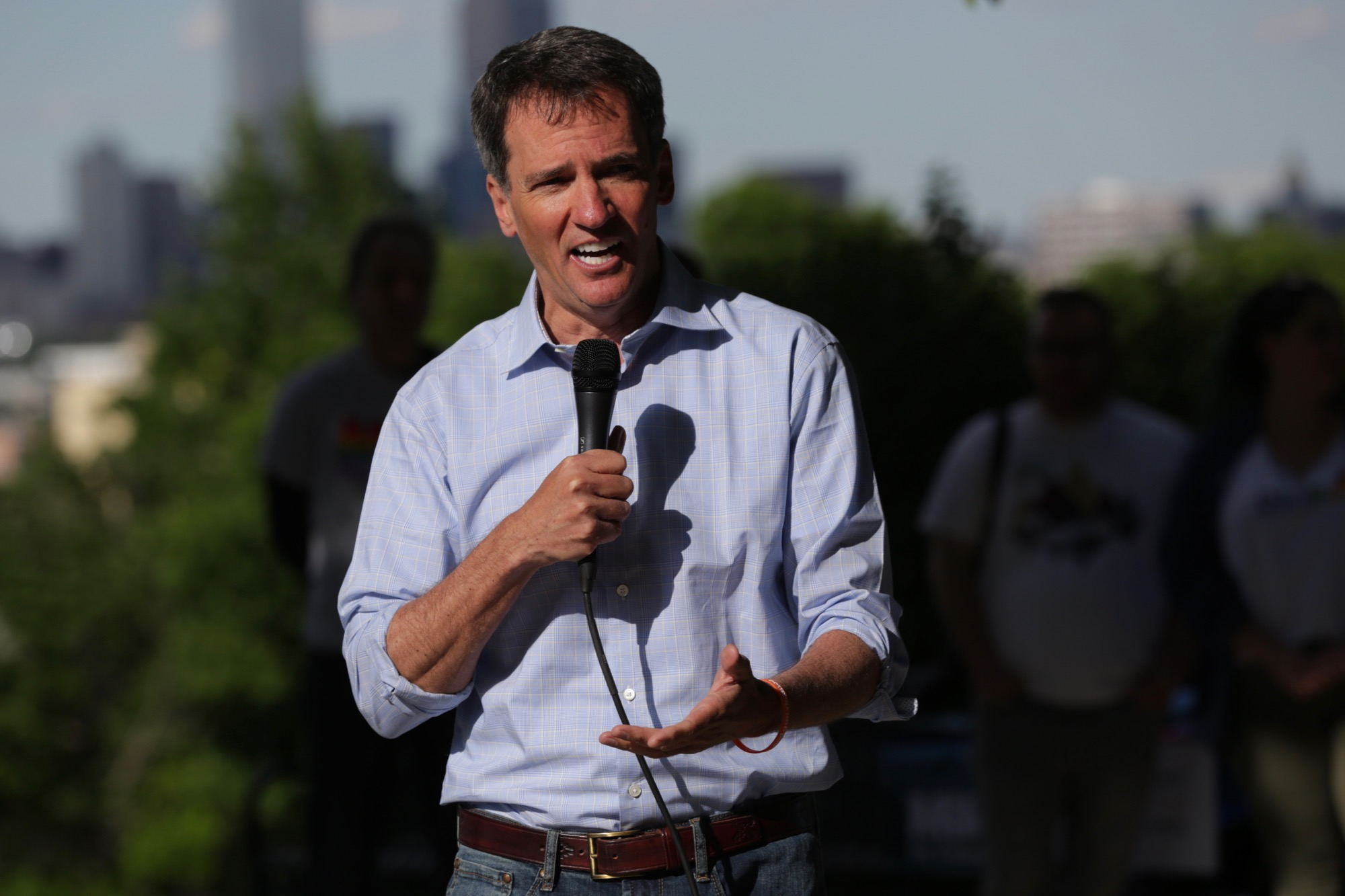Former state House Speaker Andrew Romanoff at a picnic-style candidate forum hosted by Indivisible Denver hosted for Democrats running to unseat Republican U.S. Sen. Cory Gardner in 2020 at Barnum Park on Sunday, June 9, 2019.