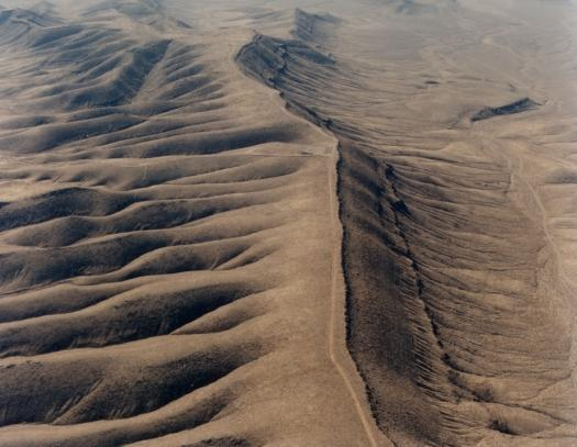 An aerial view of Yucca Mountain in Nevada