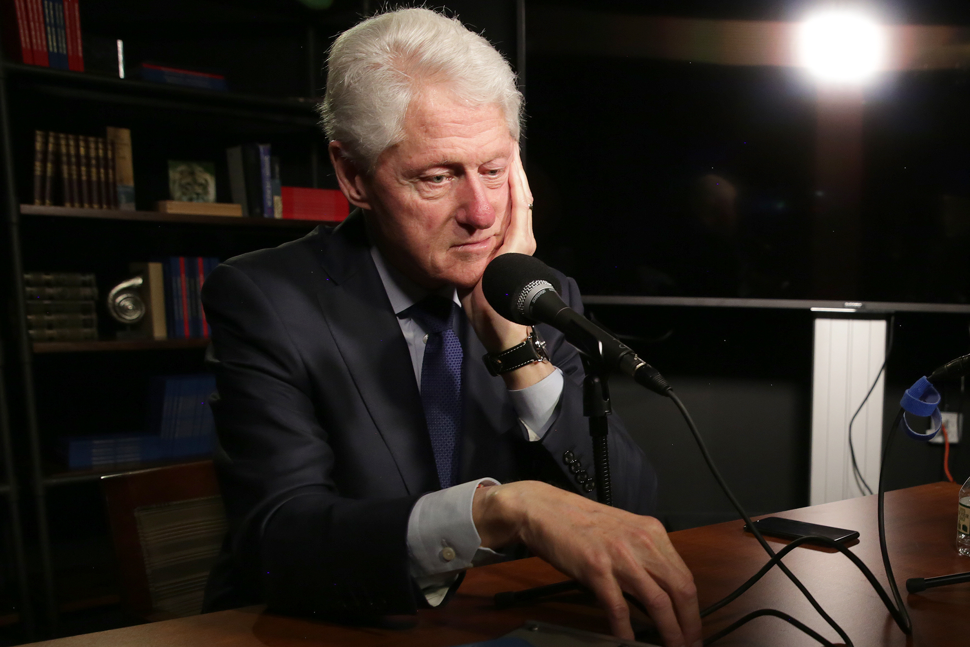 <p>Former President Bill Clinton at his office in New York in April 2019.</p>