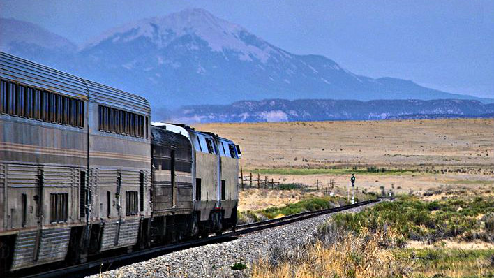 CDOT is proposing a new passenger rail service along the Front Range that could connect to other systems, like Amtrak's Southwest Chief, seen here near Trinidad.
