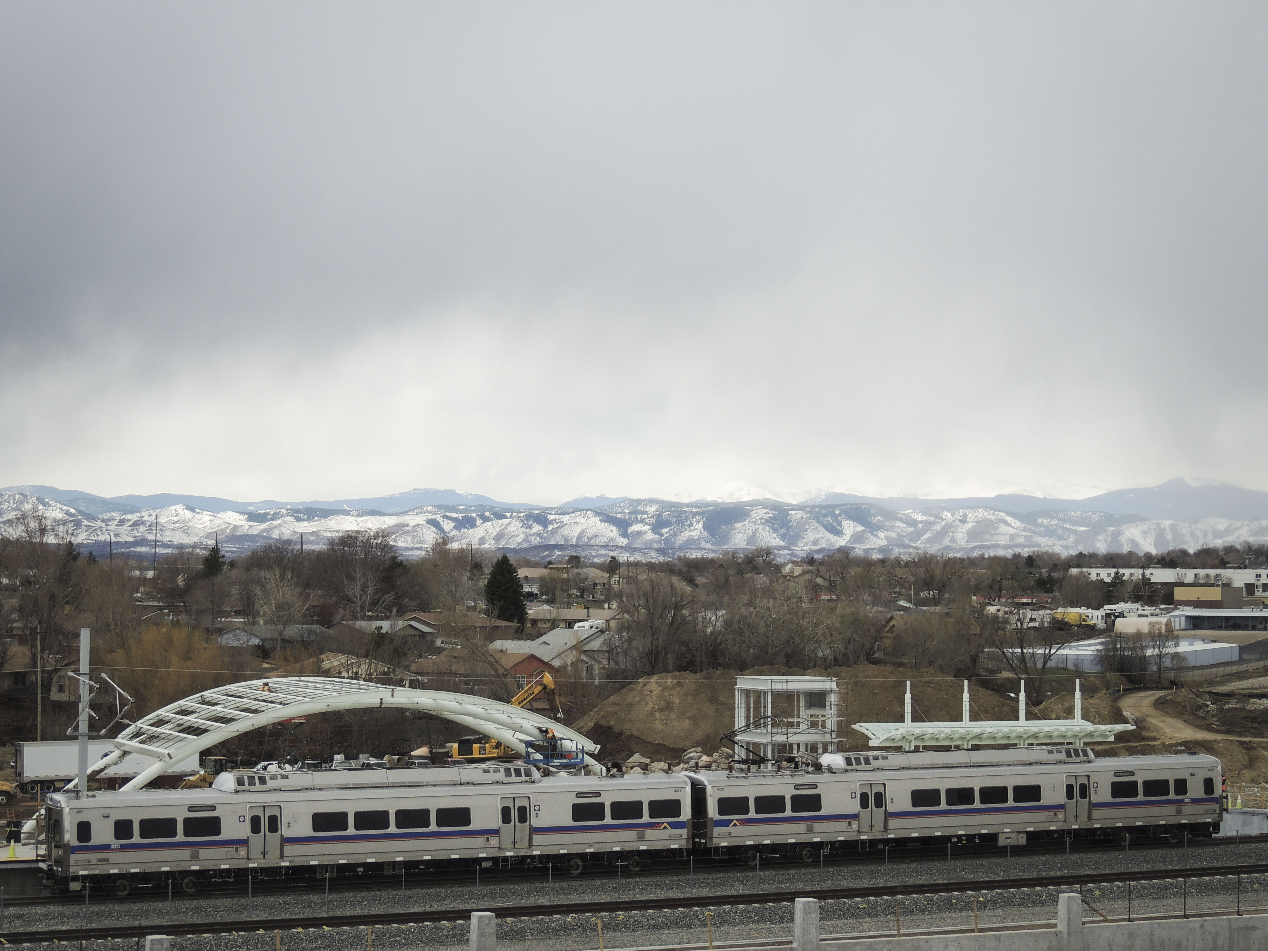 <p>A RTD B Line train at Westminster station. Eventually, RTD plans to extend the B Line through Boulder and to Longmont. </p>