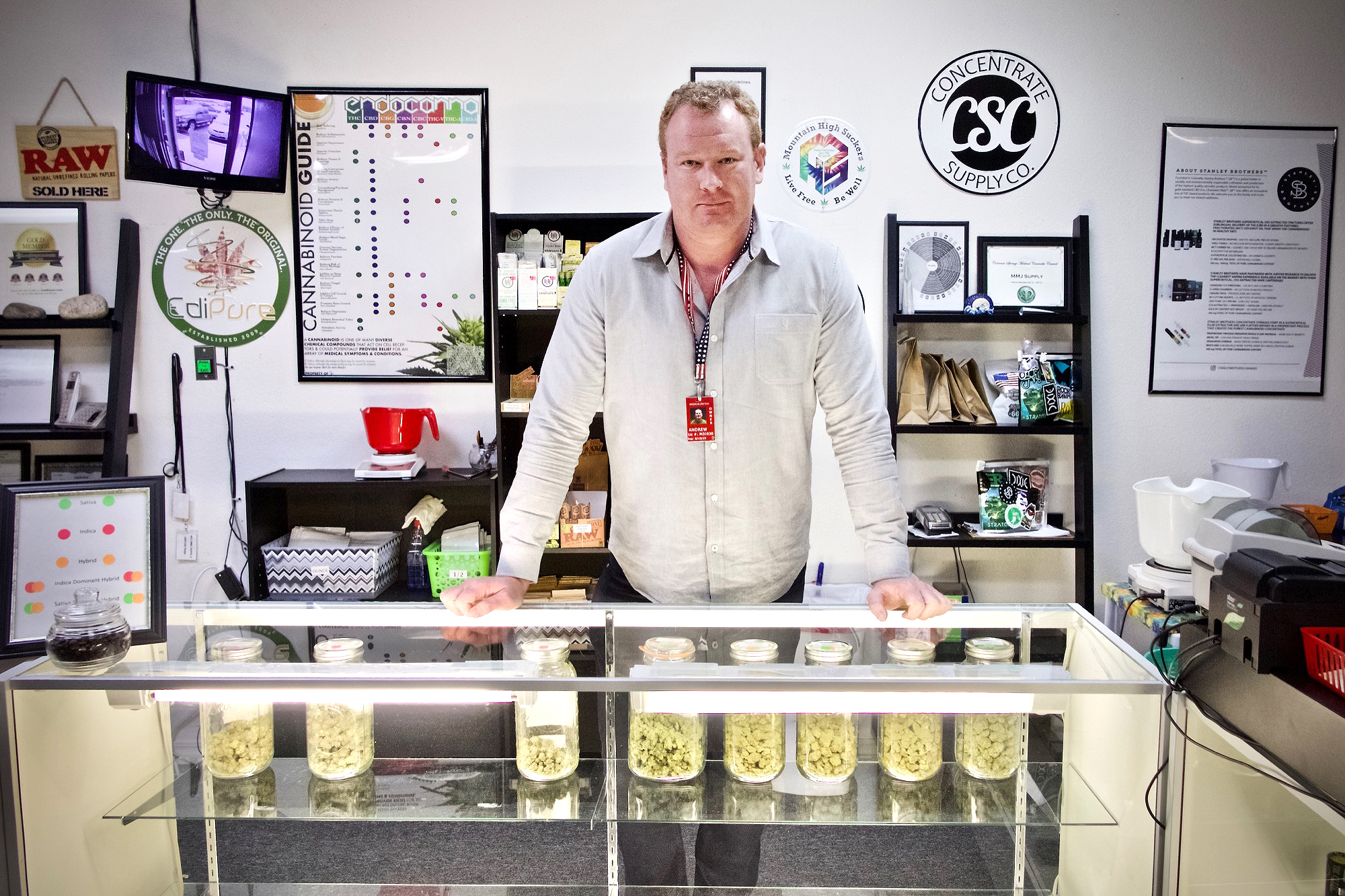 Andrew Heaton runs the medical marijuana dispensary WTJ MMJ Supply in Colorado Springs. He said he believes legal recreational marijuana in the city could actuallydeter active duty soldiers from using pot.
