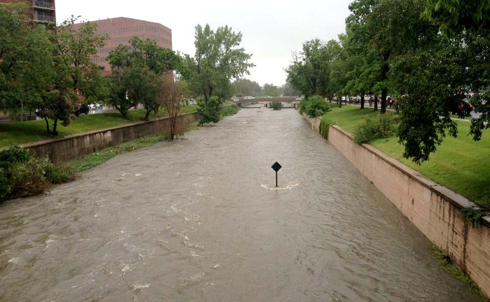 <p>Cherry Creek was flowing well above its banks in downtown Denver on Thursday, June 11, 2015.</p>